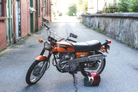 1971 Honda CL175 Scrambler - Candy Topaz Orange
